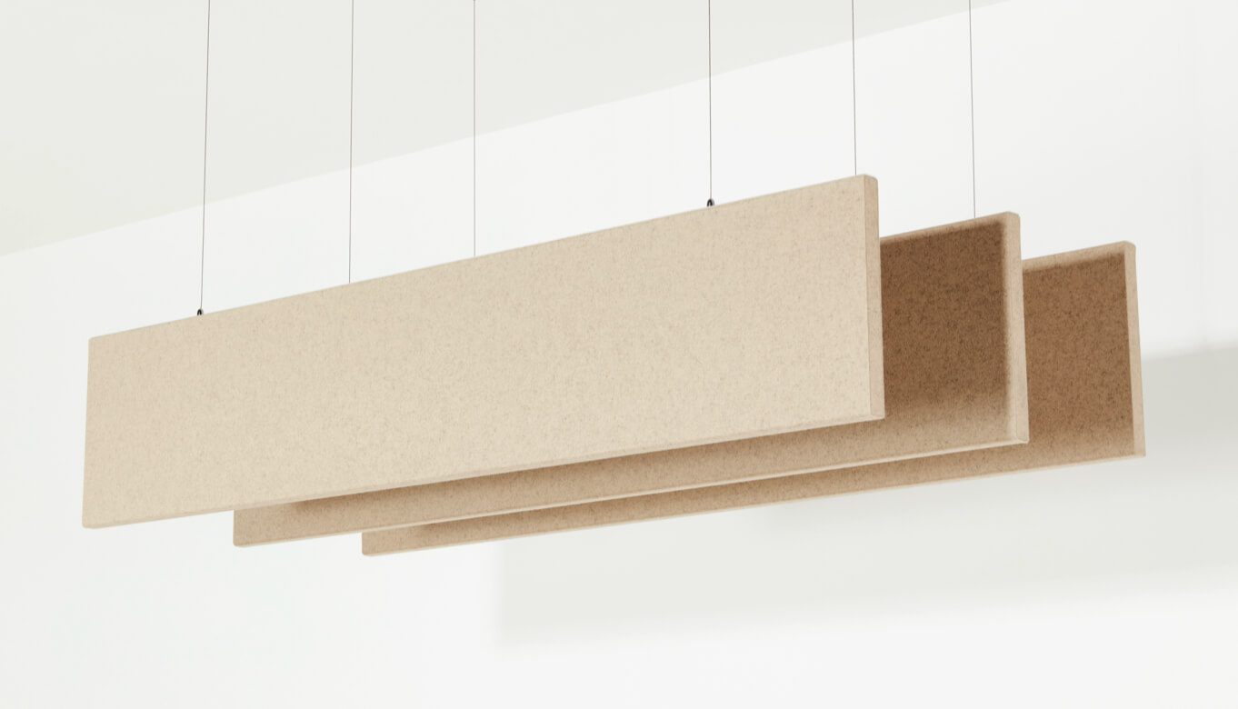 Example of linear baffles by Interior Felt