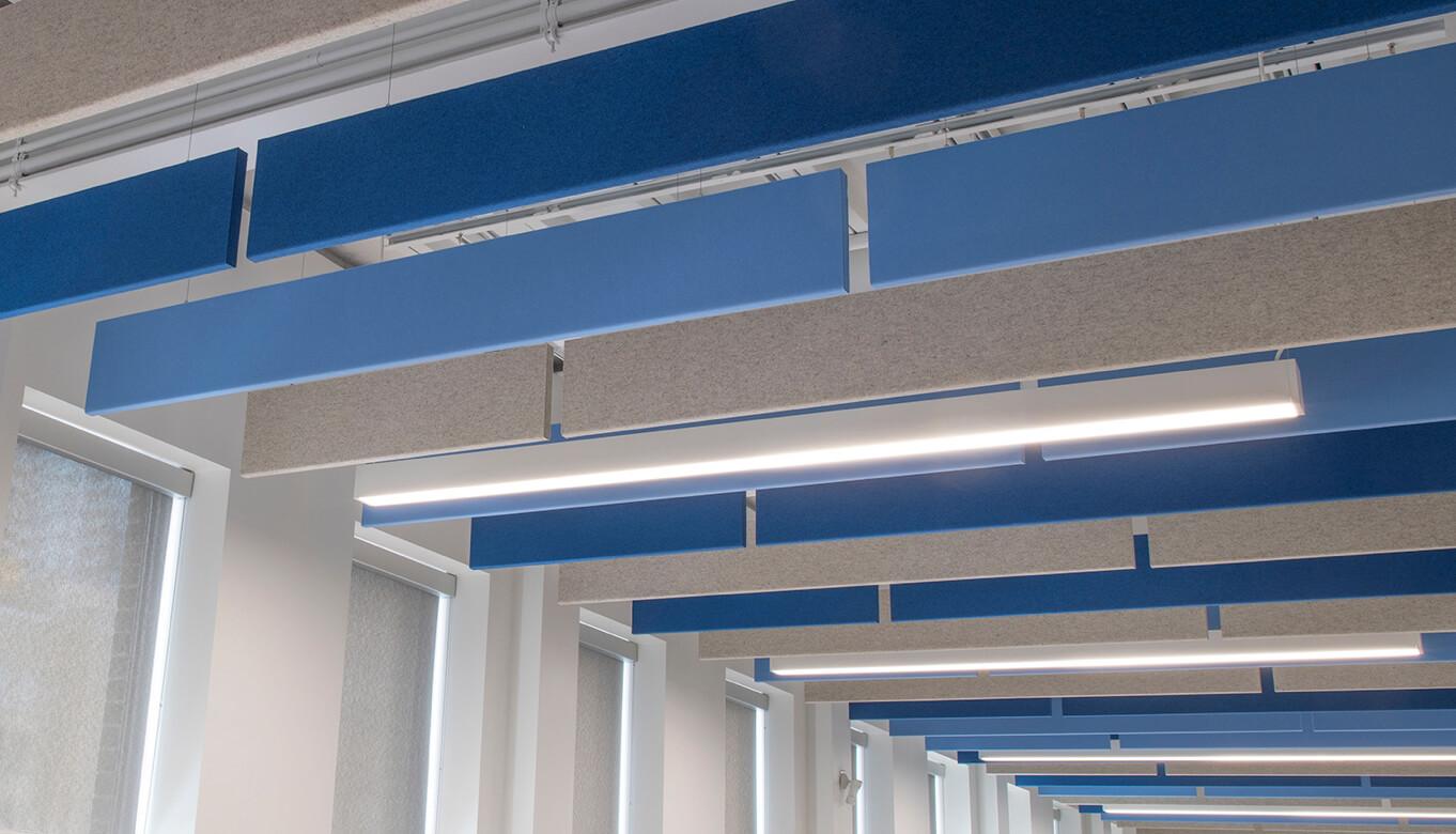 Linear baffles inside University of Toronto