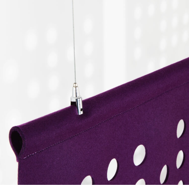 Example of felt use for suspended screens