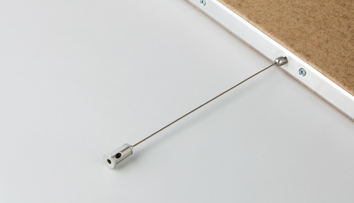 Hardware to hang felt linear baffles